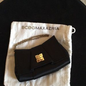 BCBG Satin Wristlet Bag